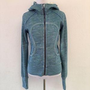Lululemon Scuba Hoodie Jacket Green Blue Size 6